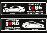 アイラブ86(ZN6) リメイクラブセキュリティステッカー