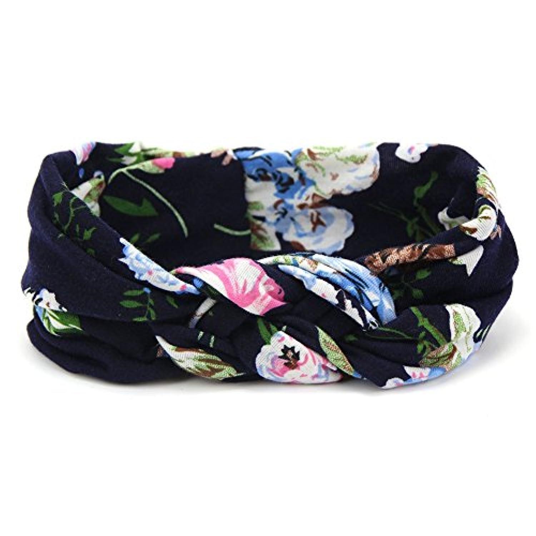 Cutelove キッズ ベビー ヘアバッド カチューシャ ボヘミア風 花柄 女の子 コットン 髪飾り リボン