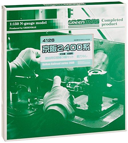 Nゲージ 4126 京阪2400系 2次車旧塗装増結用中間車3輛 (動力車なし) (塗装済完成品)