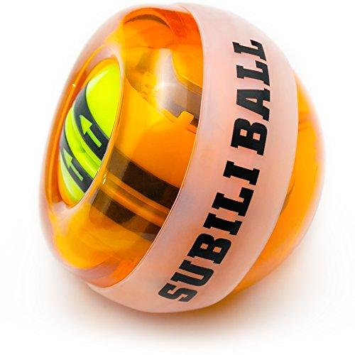 BETENSE リストボール LED発光 フィットネス 2017年版自動回転モデル オートスタート機能 手首 筋トレ 握力 腕力 トレーニング (オレンジ)