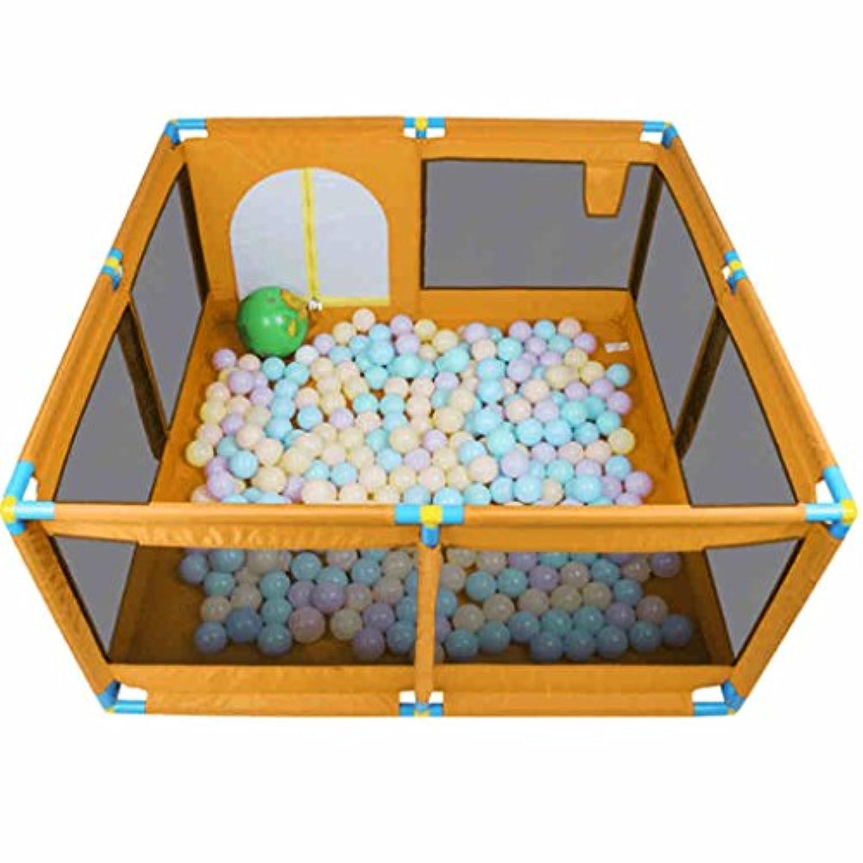子供用セーフティフェンス、アイロンチューブ、8パネルポータブル折り畳み式折り畳み、子供の赤ちゃん屋内屋外の安全ゲームプレイフェンスフェンス、ルームディバイダー、ブルー (色 : オレンジ)