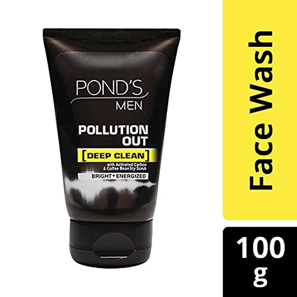 ビスケットスイ投資するPond's Men Pollution Out Face Wash, Feel Fresh 100gm