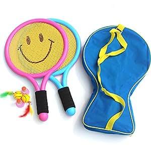 PANCY 子供用 テニス ラケット バッグ ボール セット スポーツ おもちゃ アウトドア 室内 (38cmラケット ボール6個)