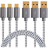 [3-PACK] USB Type C Cable, CableCreation (4 FT/1.2M) USB Type C (USB-C) to USB 2.0 A Braided Cable for the New Macbook (Pro), Nexus 5X/ 6P, OnePlus 2 & More, Space Gray