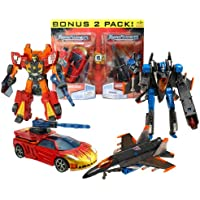 Hasbro Year 2007 Transformers Universe Series 2 Pack Deluxe Class 6 Inch Tall Robot Action Figure Set - OPPOSITE ATTACK