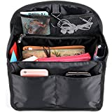BTSKY Universal Backpack Insert Organizer Handbag Organizer Hanging Travel Bag Gadget Organization Multi-Pocket