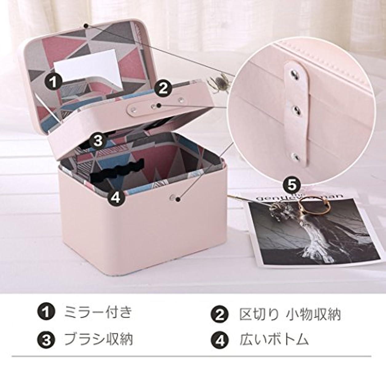 キャラクター鉄道内側SZTulip メイクボックス コスメボックス 大容量収納ケース メイクブラシ化粧道具 小物入れ 鏡付き 化粧品収納ボックス