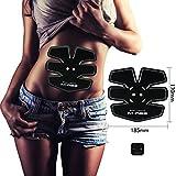 腹筋マシン USB充電式 怠惰な人の筋肉振動鍛錬マシーン 軽量&静音 腹筋・背筋・お腹 薄型軽量