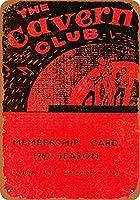 Shimaier 壁の装飾 メタルサイン 1962 Cavern Club Membership Card Beatles ウォールアート バー カフェ 縦20×横30cm ヴィンテージ風 メタルプレート ブリキ 看板