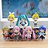 Hatsune Miku Sakura Megurine Luka Kagamine Rin Len Figures Toyセットof 7pcs新しい
