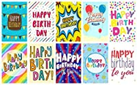 Greetinglesによる20「言葉」デザイン誕生日カード&封筒。 10デザインイギリス製