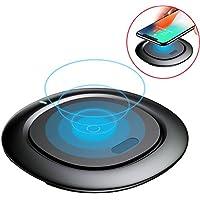 ワイヤレス充電器 Qi ワイヤレスチャージャー チー 急速 10w Quick Charge 2.0 置くだけ充電 コンパクト iPhoneX/iPhone8/iPhone8 Plus/Galaxy/Nexus 他 対応 qi 充電器 (ブラック)