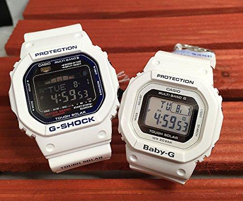 カシオCASIO 腕時計 G-SHOCK&BABY-G ペアウォッチ 純正ペアケース入り ジーショック&ベビージー 2本セット ホワイト 白 スクエア デジタル ソーラー電波 GWX-5600C-7JF BGD-5000-7JF