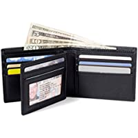 ID STRONGHOLD RFID Blocking Leather Bifold Wallet for Men