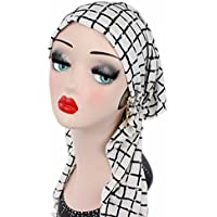 COMVIP Women Elegant Shawl Cap Elastic Head with Chemotherapy Hat