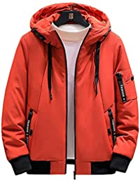 ダウンジャケット コート メンズ 中綿ジャケット 厚手 フード付き 無地 中綿 裏起毛 防寒 大きいサイズ