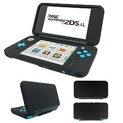 MaxKu Newニンテンドー2DS LL シリコンカバー 一体型 水洗可能 ソフトカバー 全面保護 高品質 着脱簡単 Nintendo 2DS LL シリコンプロテクタケース (ブラック)