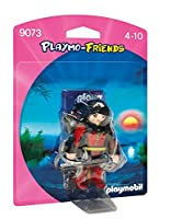 PLAYMOBIL (プレイモービル) Royal Lady Figure(9072), Blade Warrior Figure(9073), Zookeeper with Baby Gorilla(9074), Pirate with Shield(9075), Dragon Knight(9076), Mega Masters Spy(9077) [並行輸入品] (9073)