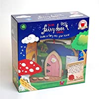 The Irish Fairy Door Company - Pink Arched Door - Includes Magic Key in a Bottle 3 Stepping Stones Fairy Lease Agreement Notepad and Fairy Welcome Guide 【You&Me】 [並行輸入品]