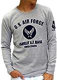 (マルカワジーンズパワージーンズバリュー) Marukawa JEANS POWER JEANS VALUE Tシャツ メンズ ブランド 長袖 ロンT ロゴ ミリタリー エアフォース ワッフル サーマル L 柄2