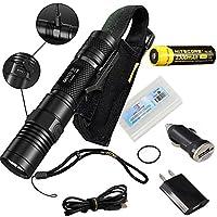 Nitecore MH10 USB Rechargeable Flashlight CREE XM-L2 U2 Portable Torch Waterproof Compact Searchlight With NL183 2300mAh 18650 Battery [並行輸入品]