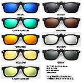 1stモール 偏光 サングラス 超軽量 レンズ クリップオン 眼鏡 メガネ UVカット お洒落 グラサン WEYESCL ブラック ST-WEYESCL-BK