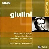 Verdi: Messa da Requiem; I vespri siciliana Overture / Schubert: Mass in E flat, D950 ~ Giulini