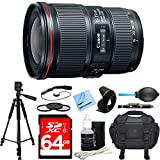 Canon EF 16 – 35 mm f4l is USMレンズDeluxe Accessory Bundle Includesレンズクリーニングキット、ビーチ、64 GB SDXCメモリカード、..