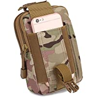 Multipurpose Tactical EDC Utility Gadget Pouch Molle Hip Waist Belt Bag Universal Cell Phone Holster Outdoor Military Wallet Nylon Case Camping Hiking Gear Tool Organizer