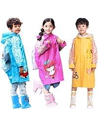 レインコート 子供 男女兼用 新学期用 雨具 背中はランドセル対応 通学 通園用レインコート キッズ 折り畳み可能 防水防汚 可愛い柄 子ども大好き (110-150cm)