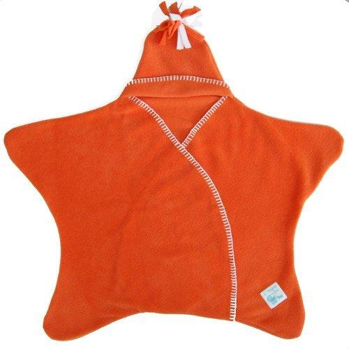 Tuppence & Crumble タッペンスアンドクランブル 星型アフガン Star Wrap スターラップ 0-4ヶ月用 オレンジ