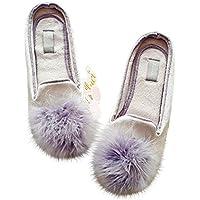 Halluci Women's Cozy Velvet Memory Foam House Slippers w/ Non Slip Soles