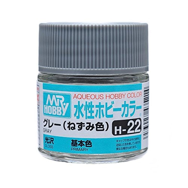 【水溶性アクリル樹脂塗料】水性ホビーカラー H22 グレー (ねずみ色)