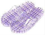 水切り 足つぼ サンダル リフレクソロジー ツボ押し 健康サンダル 選べるカラー・サイズ (パープル, M)