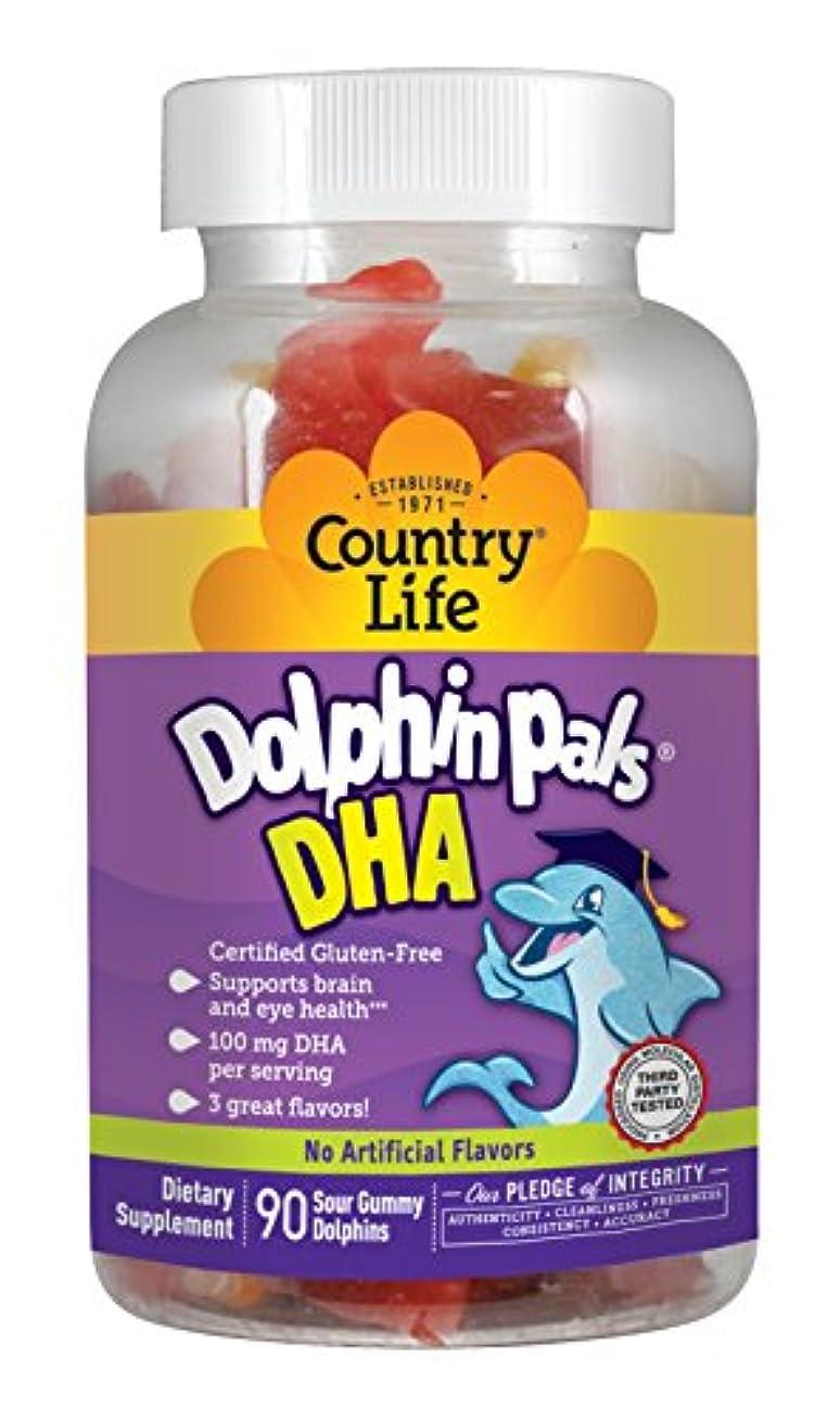 こねる歴史家モード海外直送品Country Life Dolphin Pals DHA Gummies For Kids, 90 ct