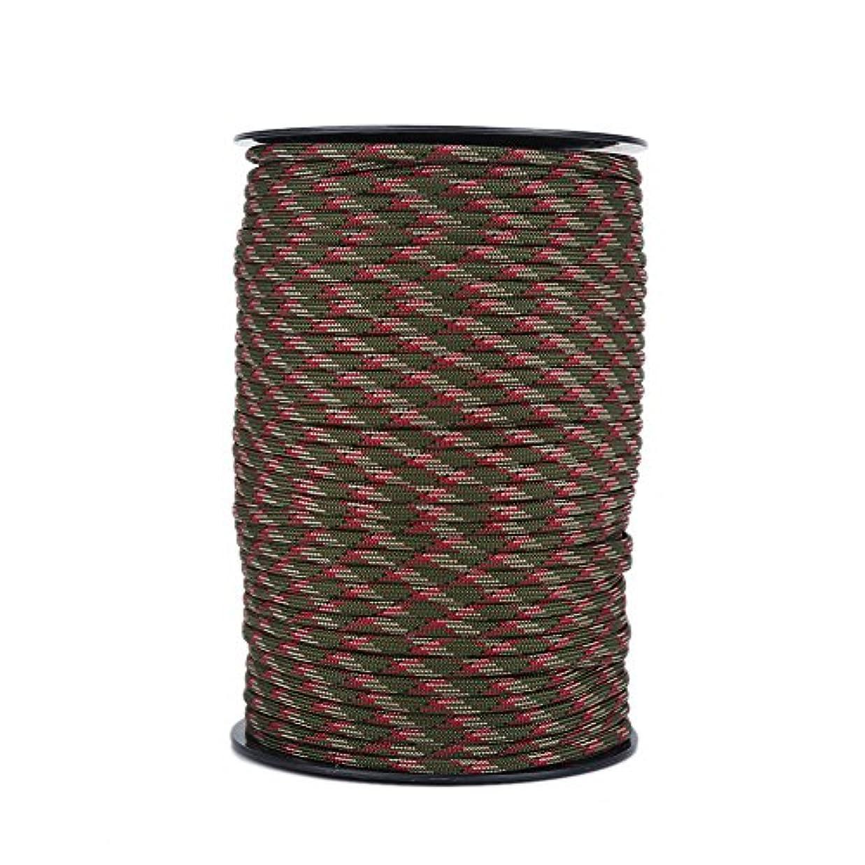 普通にスコア高音パラシュートコード テントロープ ガイロープ 9芯 耐摩耗 長さ100m 多目的 紐 キャンプ用品 テントアクセサリー 色選択可