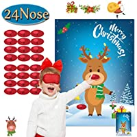 Funnlot Pin The Nose on The Snowman Christmas Day Supplies Christmas Day Decorations