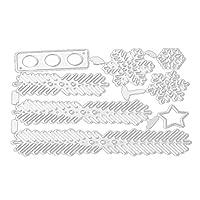 カーボンスチールクリスマストナカイエンボス切削ダイスステンシルテンプレートMould DIY Xmasカードスクラップブックアルバム G430380042-DEA