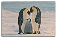 Emperor Penguins And Baby 10 x 15 Wood Sign LANT-47431-10x15W