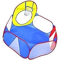 Fenteer 子供 テントおもちゃ ボールピットおもちゃ ミニバスケットボールフープ プレイテント キッズテント 遊び場 2カラー選ぶ - #2
