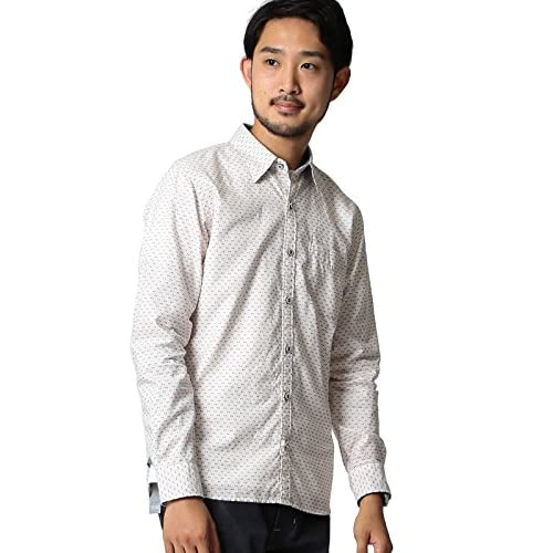(ビームス) BEAMS / ドットプリントシャツ 11112533301  OFF WHITE L