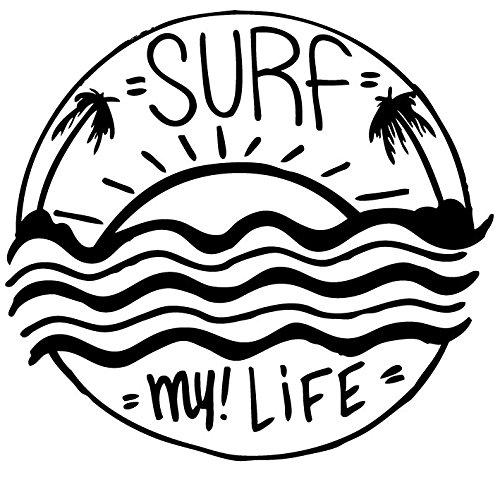 SURF my!Life サーフィンステッカー 防水・車両O...