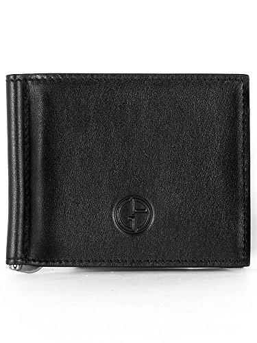 (ジョルジオアルマーニ) GIORGIO ARMANI メンズ 二つ折り財布 マネークリップ付 ブラック Y2R101 YCR2J 80001 BLACK [並行輸入品]