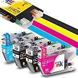 ブラザー LC3111-4PK 大容量5本セット brother LC3111 互換 インク カートリッジ 4色セット + 1本ブラック starink 画像