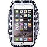 iPhone6アームバンドケース 厚さ僅か1mmの超薄型,EOTW iPhone6 / 6S 4.7インチ スポーツアームバンド ランニング スマホケース 防水 超軽量 キーポケット付 (黒)