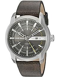 ディーゼルメンズdz1782Armbarステンレススチールブラウンレザー腕時計