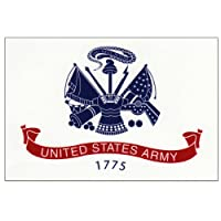 """U.s. Army Flag Decal - 3 ス"""" x 5"""" - High Gloss UV Coated Laminate Water Proof Sticker DECAL"""