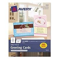 half-foldグリーティングカード、インクジェット、51/ 2x 81/ 2、マットホワイト、20/ボックスW /封筒、として販売20各