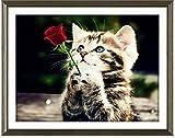 【アップフェル】 クロス ステッチ キット 【 愛 を 告白する 猫 D507 】 Waiting for love 43cm*35cm 子ネコ 手芸 刺繍 通販
