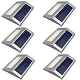 LEDソーラーライト 感光式 6個セット 壁掛け用/ガーデニング/屋外/外灯/庭園灯/エクステリア (白色)